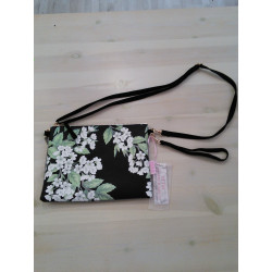 Bolso clutch floral